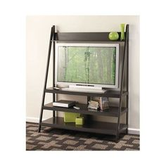 Black Ladder TV Stand TV Stands Television Stands Cabinets Office Furniture Plasma TV Stands >>> Click image to review more details.Note:It is affiliate link to Amazon.