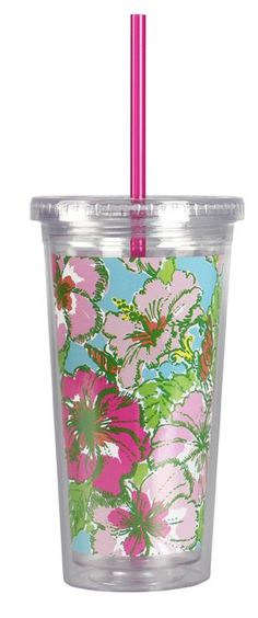 Big Flirt Tumbler with Straw - Spring 2015 Collection - Lilly Pulitzer - NEW!
