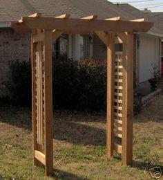 Brand New All Cedar Classic Garden Arbor Pergola Arch