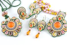 Soutache Pendant Mirage by BeadsRainbow on Etsy