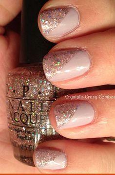 Neutral nail art - shellac nails