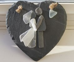 Wedding Day Gifts created from sea glass and stone