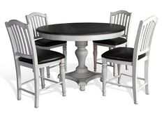 Lacks | Bourbon County 5-Pc Counter Height Dining Set
