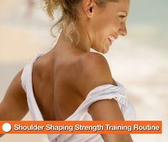 Shoulder Shaping Strength Training Routine - It's never too late to sculpt your shoulders, so here's a routine devoted especially to that area. Grab a set of dumbbells and go through this sequence once. Be sure to rest between exercises if you need to give your shoulder muscles a break.