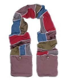 Another great find on #zulily! Red & Blue Patchwork Organic Pocket Scarf #zulilyfinds