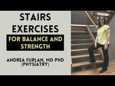 Balance and strength exercises for seniors using a staircase at home by Dr. Andrea Furlan MD PhD - YouTube Stairs Workout, Gym Workout Tips, At Home Workouts, Posture Exercises, Balance Exercises, Senior Fitness, Fitness Tips, Strength Workout, Sciatica