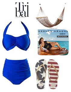 """Bez naslova #110"" by alma-ja ❤ liked on Polyvore featuring swimsuitsforall and Havaianas"