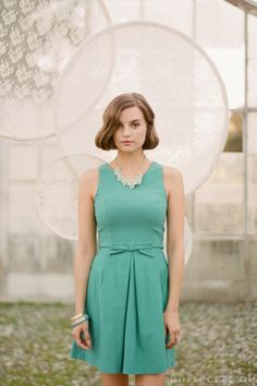 A sweet bridesmaids dress topped with a bow. #bridal #ruche #shopruche