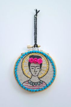 Little Frida Kahlo Hand Embroidery Hoop Art