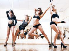 Four young sexy pole dance women - Stock Photo , Asheville, Bachelor Party Games, Bachelor Parties, Wild Bachelorette Party, Bachelorette Ideas, Aerobics Classes, Dance Gear, Dance Tips, Dance Class