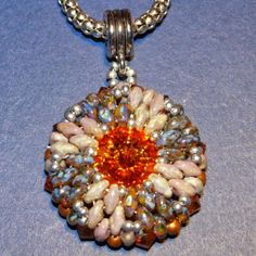 An Easy Way to Bezel a Rivoli with Superduos - Free Beading Pattern - featured in Bead-Patterns.com Newsletter!