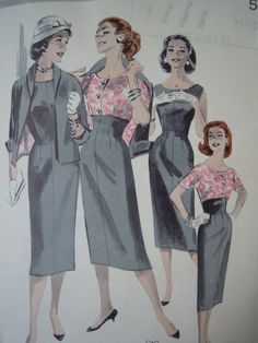 Vintage Butterick 8065 Sewing Pattern Wiggle Dress by FoxVintageUk, £8.98