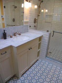 Fabulous Craftsman Bathroom Remodel and Addition Modern Backlit Mirror