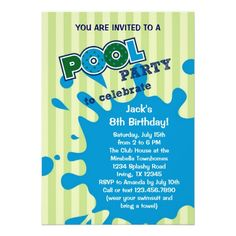 20 Best Pool Party Invitation Templates Images Pool Party