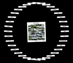 Flickr tag, waarbij je keyword de foto's toont die aan de tag voldoen    Daarna worden related tags genoemd om op te klikken    http://www.airtightinteractive.com/projects/related_tag_browser/app/