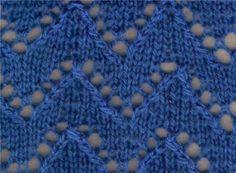 Lace Knitting Stitch #87 | Lace Knitting Stitches
