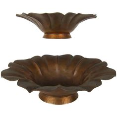 Marie Zimmermann Arts and Crafts Pair of Flower-Form Bowls   From a unique collection of antique and modern bowls and baskets at…