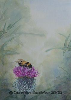 Thistle Flower, Titanium White, Watercolor Flowers, Cobalt Blue, Colours, Green, Painting, Art, Atelier