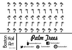 Palm Trees Waterslide Nail Decals - 50pc *** This is an Amazon Affiliate link. Find out more about the great product at the image link.