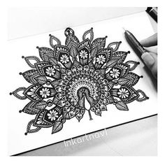 Another piece that has seen a lot of recreations. Love what you guys send me and thank you for tagging me in ur lovely creations Mandala Art Therapy, Mandala Art Lesson, Mandala Artwork, Mandala Painting, Watercolor Mandala, Doodle Art Drawing, Mandalas Drawing, Pencil Art Drawings, Cool Art Drawings
