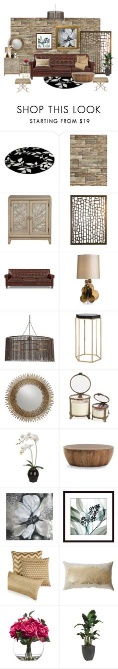 """Hers"" by lindagama on Polyvore featuring interior, interiors, interior design, home, home decor, interior decorating, Arteriors, Himalayan Trading Post, Sia and Art for Life"