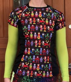 3e50df166 A crew-neck superhero Surf to Summit with reflective back accents Princess  Seam, Pattern