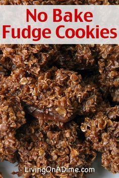 Easy No Bake Fudge Cookies Recipe