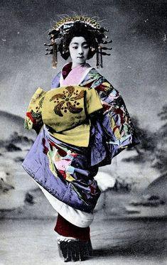 Frangipani Flower Obi kimono - Tayuu 1900