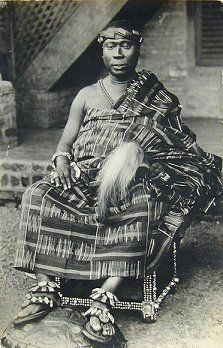 Trans-Saharan Trade | Asantehene Agyeman Prempeh I wearing an Oyokoman kente cloth. 1926 ...