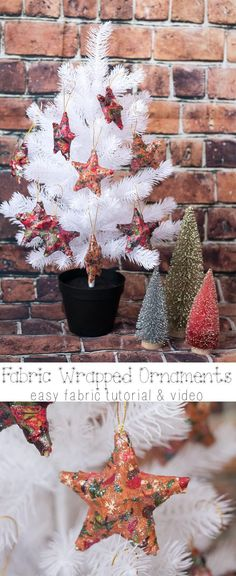 Fabric Christmas Ornaments and Easy DIY for Christmas from Life Sew Savory