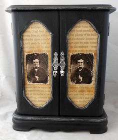 Gothic Craft Ideas | Gothic Jewelry Box Edgar Allan Poe RESERVED by ... | Craft Ideas