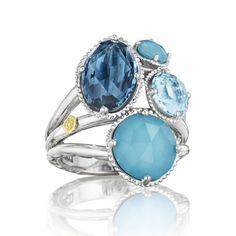 Silver Multi Color Ring - SR143050233