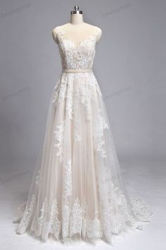 Dear customer we can custom made this dress in any color you want:) if you want the full dress in ivory or white please leave a note on the order , after got your order i will message you to check every details :) Vintage Lace Wedding Dress Handmade Sheer Mesh Tulle Wedding Gown/Ivory Champagne Bridal Dress, Formal Wedding Gowns ZP8 Rush order link : https://www.etsy.com/listing/204394416/rush-order-for-the-custom-made-dresses? Fabic/color sample link: http...
