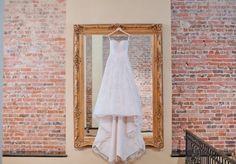 pretty dress on a mirror :)