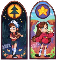 chikuto: Pine Tree and Shooting Star!I always wanted to try stained glass window stuff!