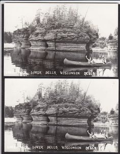2 Wisconsin Dells Lone Rock Canoe Lower Vintage Real Photo Postcard Lot | eBay