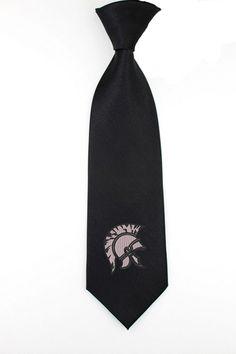 Spartan helmet design necktie, mens womens skinny tie, ties, gifts for him, christmas ideas - pinned by pin4etsy.com