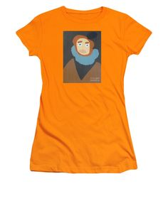 Patrick Francis Orange Designer Junior T-Shirt featuring the painting Portrait Of Maria Anna - After Diego Velazquez by Patrick Francis