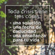 3 cosas para tener en cuenta en una crisis. Si quieres saber cuál es la mejor estrategia, puedes ir a: https://delavidaysusespejos.com/2017/02/13/crisis-castigo-o-bendicion/