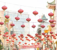 San Francisco Photography -  Lanterns in Chinatown, Travel Fine Art Photography, Red California Wall Decor