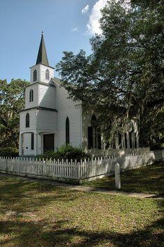 Walthourville GA Presbyterian Church Liberty County Historic Landmark Midway Retreat Picture Image PHoto Copyright Brian Brown PHotographer Vanishing Coastal Georgia USA 2012
