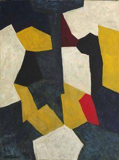 Serge Poliakoff, Composition Abstraite, circa on ArtStack European Paintings, Contemporary Paintings, Art And Illustration, Abstract Drawings, Abstract Art, Art Texture, Value In Art, Mid Century Art, Art Moderne