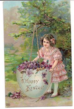 1911 German Easter Postcard