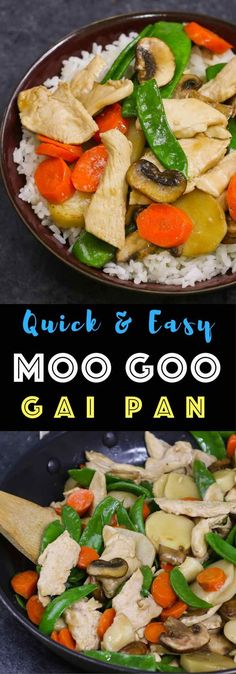 This Moo Goo Gai Pan is a quick and easy popular weeknight meal which tastes so much better than takeout. The tender chicken slices are stir fried with mushrooms and other vegetables. A healthy and delicious dinner that's so simple to make