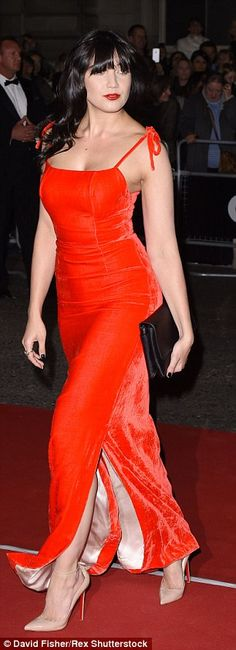 Lady in red: Daisy Lowe