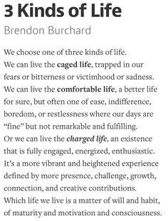 3 kinds of life - Brandon Burchard Go live your CHARGED LIFE!!