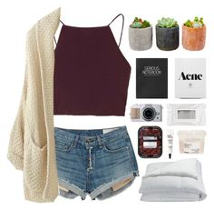 """""""Untitled #53"""" by purple-berries ❤ liked on Polyvore featuring Topshop, rag & bone, Shop Succulents, Frette, Stila, Davines, philosophy, polyvoreeditorial and polyvorefashion"""