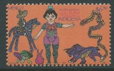 Mexico 2005 - Indigenous Popular Culture Art Painting Car... - bidStart (item 42312789 in Stamps... Mexico)