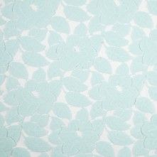 English Seafoam Floral Cotton-Nylon Lace
