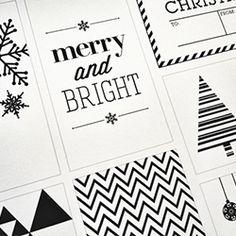Festive and FREE holiday gift tag printable.